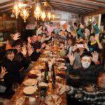 2017.10.15まるこイベントは再度山荘さんハロウィン気分でディナーイベント