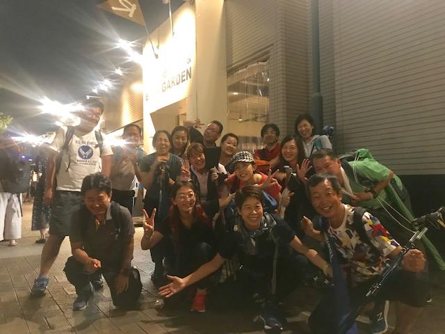 8月24日(土)まるこ大阪城~中之島夕暮れNW~希望者で納涼会イベント