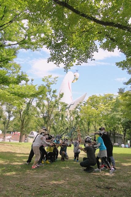 2020コロナな夏!8月10日まるこ万博公園でNW+まりさんの青空木陰でヨガ コラボイベント
