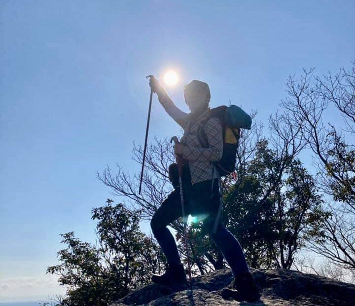 ♪お正月を写そ!ソロノルで写そ♪ 新春登山な1枚、播磨アルプス播磨から
